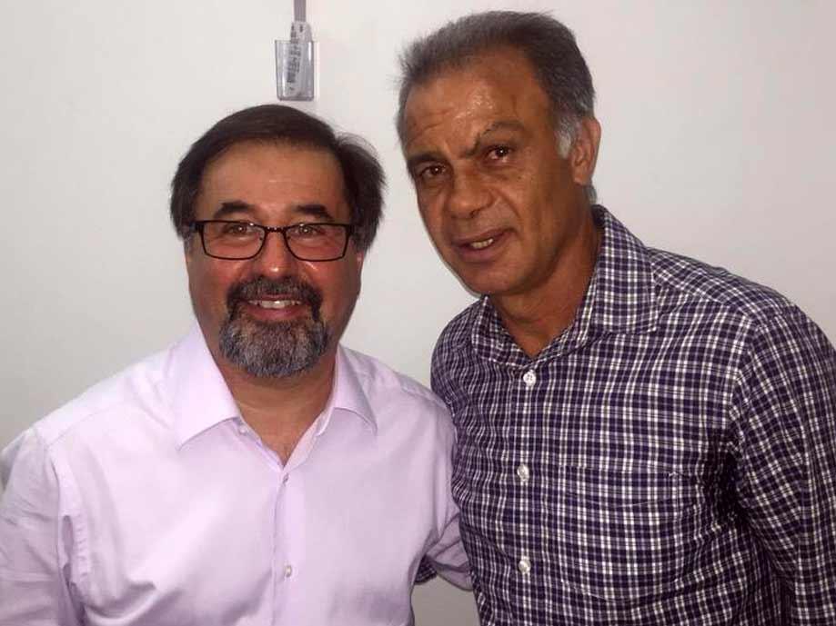 Marco Aurélio Cunha e Jorginho Cantinflas depois de suas aulas pela 4ª edição do BFC