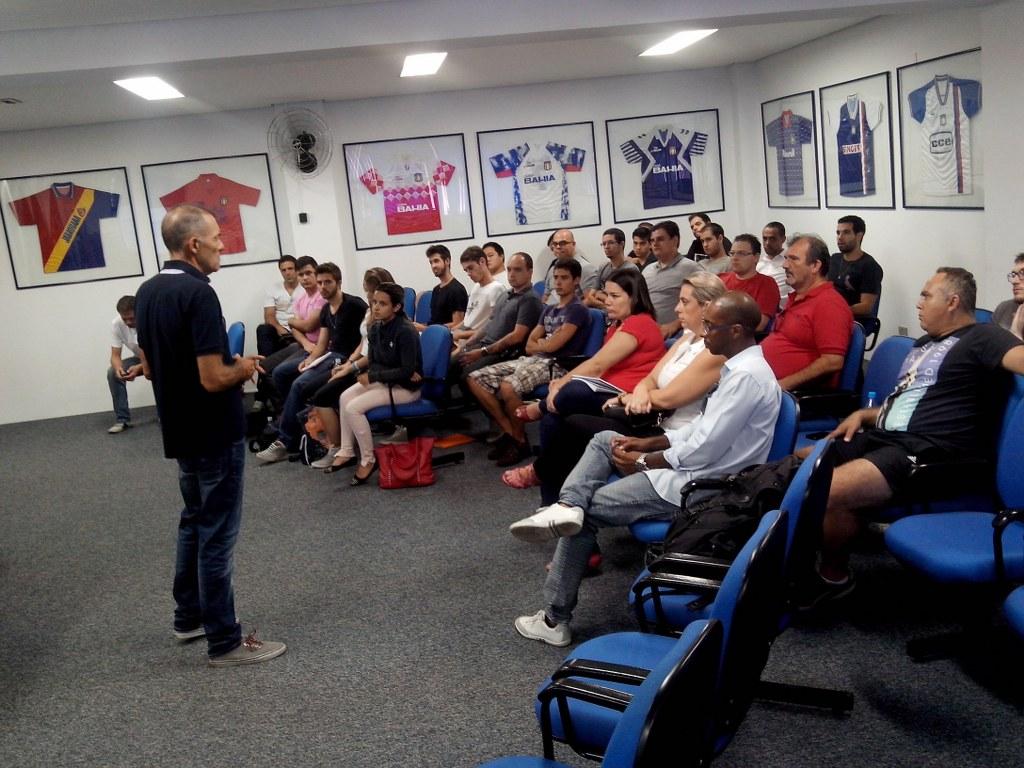 José Roberto Portella na abertura do BFC4, no São Caetano Futebol Clube