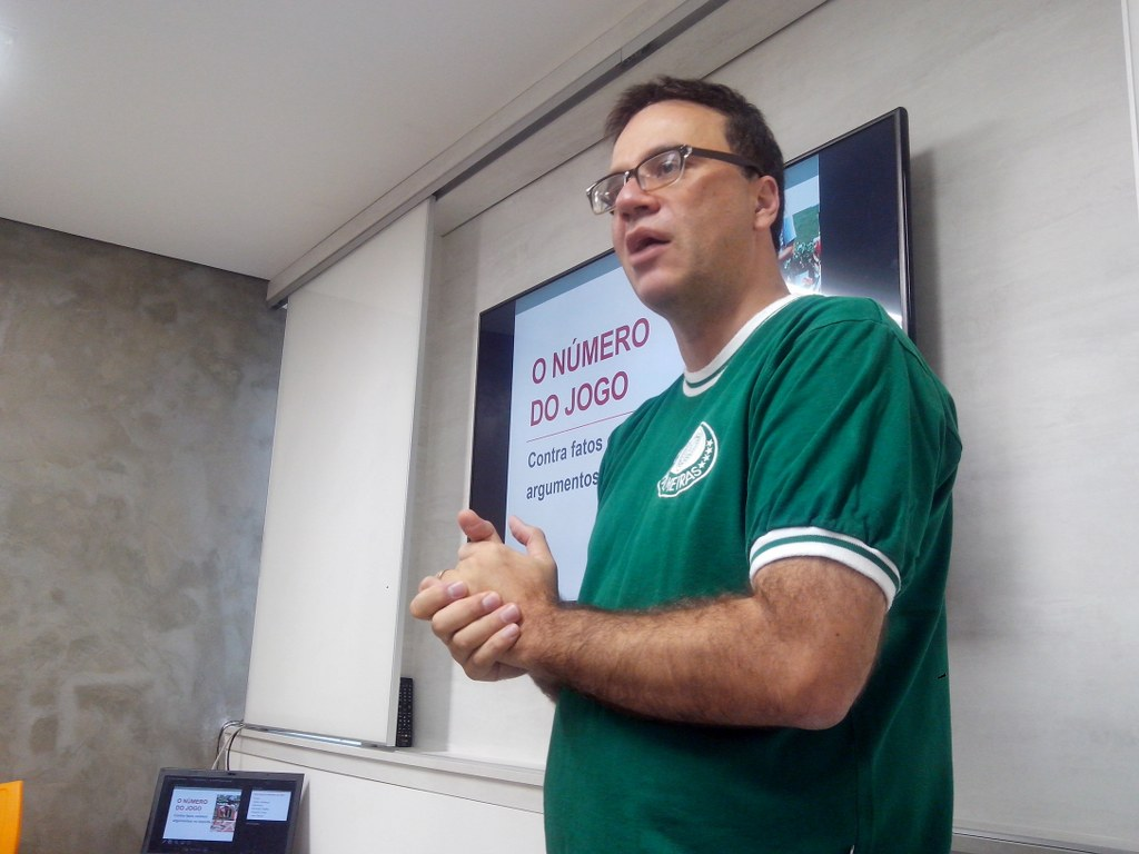 Mauro Beting em aula no BFC4, na sede da THE360